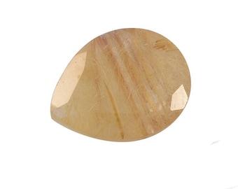 Clearance Golden Aurelia Rutilated Quartz Loose Gemstone Pear Cut 1A Quality 10x8mm TGW 1.60 cts.