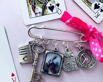 Alice in Wonderland Brooch pin