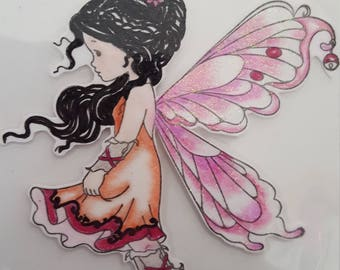 Silver Fairy mounted rubber stamp