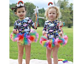 Rainbow and Pink Tutu, Colorful Tutu, Birthday Tutu, Rainbow Party, Birthday Tutu, Dress up, Cake Smash Tutu, Rainbow Outfit