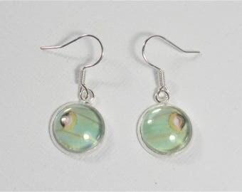 Actias Luna Moth Wing Earrings Set of 2 Silver Finish Jewelry