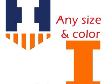 University of Illinois Fighting Illini UI Any Size and Color Decal Sticker cellphone yeti car window computer smartphone coffee cup macbook