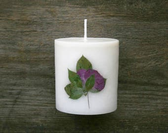 Flower candle, botanical candle, floral candle, handmade candle, home decor, Original Gift Idea