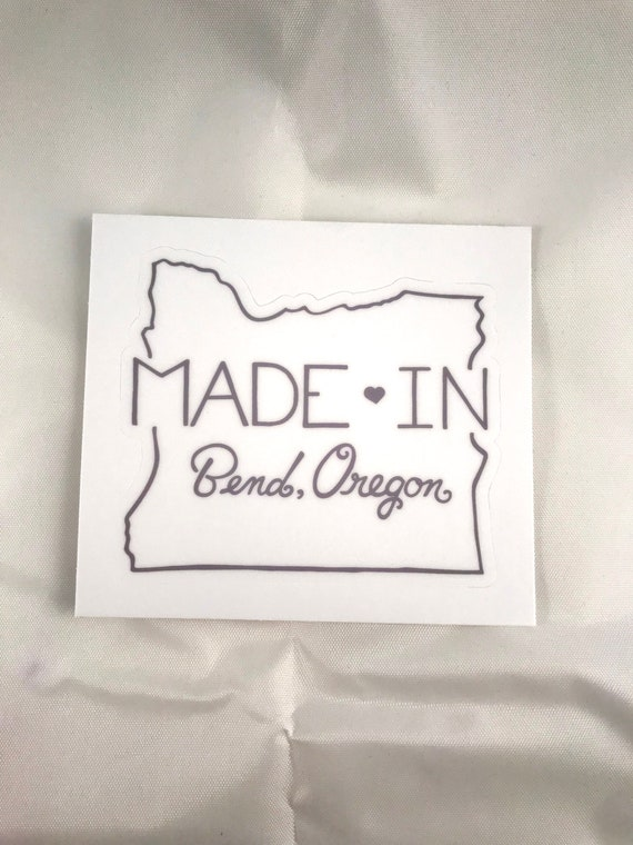 Made in Bend Oregon Stickers, Packaging Stickers, Stickers for Crafters, 3X3 Stickers, Stickers for Small Shops, Small Business