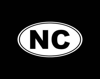 North Carolina Decal,NC State Decal,North Carolina State Decals Stickers Vinyl Die-Cut Car Decals,Home State Decals