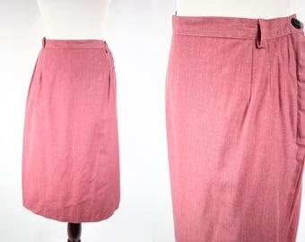 1950's Rose Cotton Highwaisted Pencil Skirt