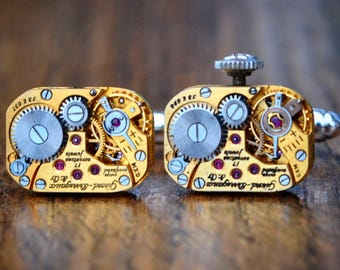 Girard Perregaux Watch Movement Cufflinks