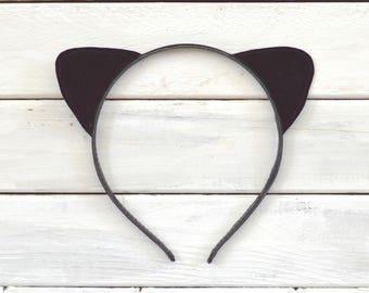 Black Cat Ears // Kitty Ears // Velvet Cat Ears // Cat Ears Headband // Kitten Ears // Best Cat Lover Gift // Kitten Headband