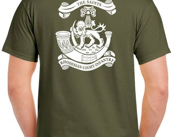 Rhodesian Light Infantry T-Shirt - 2 SIded Tee - RLI - 0514-2