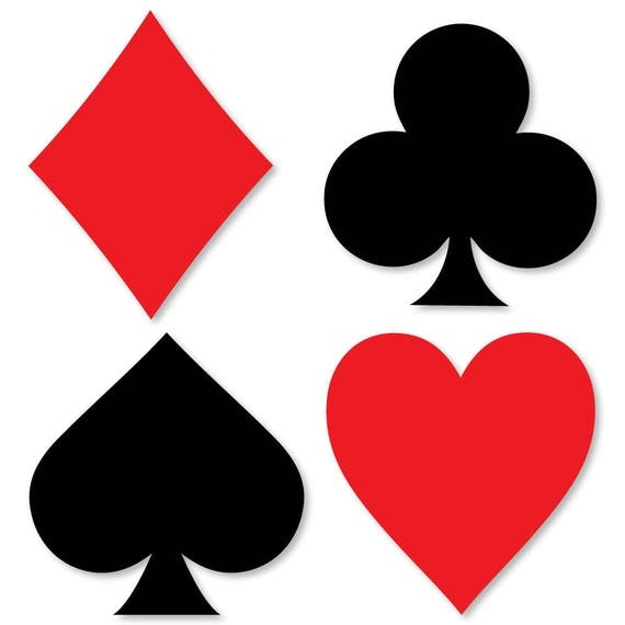 las vegas shaped casino party cut outs 24 ct poker party. Black Bedroom Furniture Sets. Home Design Ideas