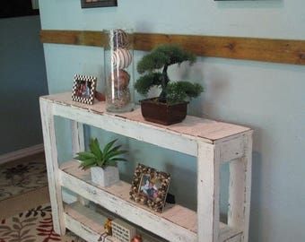 SALE SALE Large Three-Tiered Rustic Console Table
