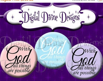 BTS With God Pastels - 1 inch round digital graphics - Instant Download