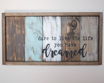Charmant Motivational Wall Decor   Live The Life You Love   Pallet Wall Art    Inspirational Wood