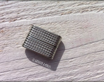 1 magnetic clasp (magnetic) silver 26 x 19 mm
