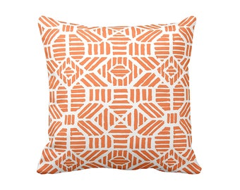 Orange Decorative Throw Pillow Cover Orange Lumbar Pillow Orange Pillow Decorative Pillow for Couch Pillow 20x20 24x24 Inches