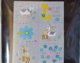 Llama Fleece Applique Blanket Kit