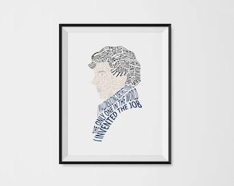 Sherlock Holmes Typography Portrait