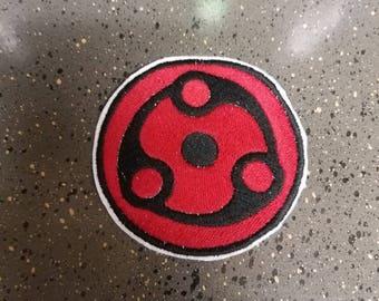 Naruto- Madara Mangekyou Sharingan Sew on Patch