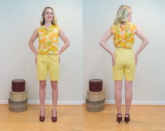 1960s Vintage Shorts - Arnold Palmer Textured Bermuda Shorts - Even with a spot for your golf tees!