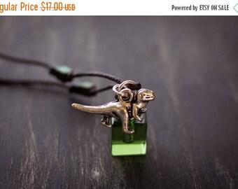 Super Summer Sale Boy's T-Rex  Essential Oil Necklace