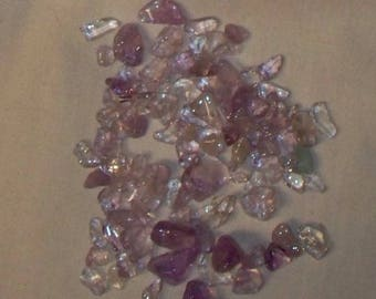 Bag of Undrilled Cape Amethyst Chips - About 1 lb