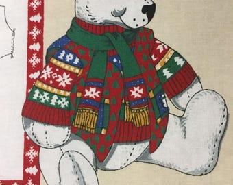 Concord Holiday Polar Bear Craft Panel - CUTE
