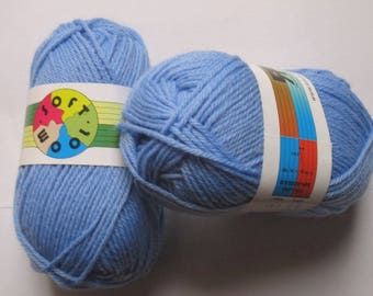 5 skeins 70 Soft Blue Wool 163 Rial Filati
