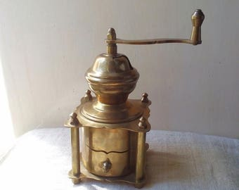 ON SALE 10% OFF Antique copper coffee grinder, coffee mill, moulin a cafe
