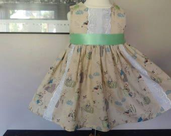 Baby girls Beatrix Potter Peter Rabbit summer party dress. 3 months - 12/18 months