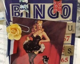 Patriotic Pin-Up Ephemera Pack-Maildrop-Vintage-Pin-Up-Black Dress