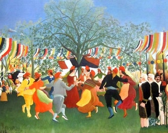 """Placemat customs Rousseau """"The centennial of independence"""""""