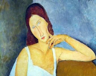 "Modigliani ""Portrait of Jeanne Hebuterne"" placemat"