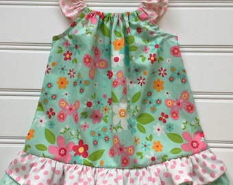 Easter Dress for Girl, Toddler Easter Dress, Baby Easter Dress, Baby Girl Dress, Flutter Sleeve Dress, Little Girl Dress, Newborn Dress