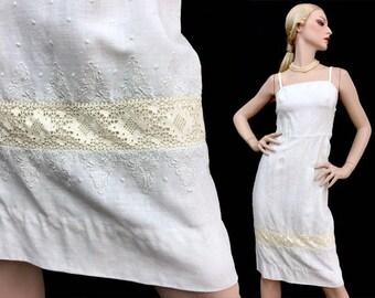 Vintage dress - vintage 50s dress - 50s dress - Party dress - linen dress - 1950 - XS - sundresses - day dress