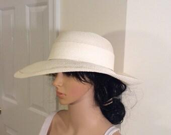 Vintage David Cohen white hat