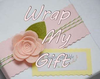Wrap me, Gift Wrapping, Wrap my item, Christmas gift wrap, Add a gift bag, Gift box, Gift Wrapping Add On, Gift Wrapping Upgrade