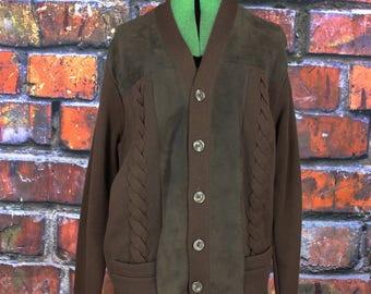 Vintage 1960s Suede Rockabilly Kramer Sweater