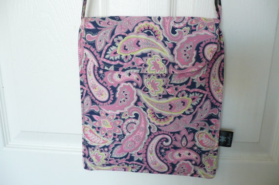 Pink Paisley Hip Adjustable Diaper Bag