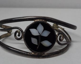 Alpaca Mexico Cuff Bracelet Inlay