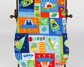 Outer Space Burp Cloth