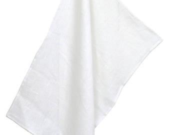 50x70cm 100% white linen Tea towel