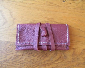 Nice pouch leather closure strap CB