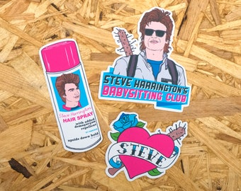 Steve Harrington Stickers & Magnets, stranger things, vinyl stickers, the upside down, laptop stickers, fridge magnets