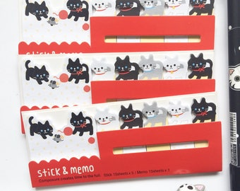 Cute Cats Sticky Notes Index Notes for Planners Notebooks