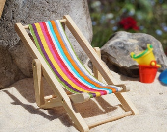Dolls House Miniature Deck Chair