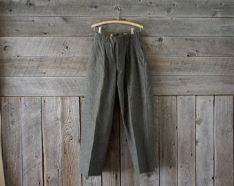 vintage Swedish wool army pants