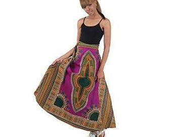 African Traditional Print Wrap Skirt