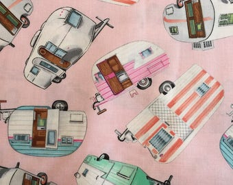 Pink Camper Fabric from Timeless Treasures