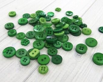 Assorted Buttons, Emerald - Mixed Buttons, Craft Buttons, Christmas Crafts, Button Crafts, Sewing Buttons