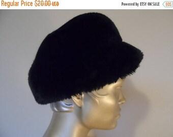 40% OFF Vintage Black Faux Fur Hat* Plush . Winter . Elegant . Warm . Beautiful!